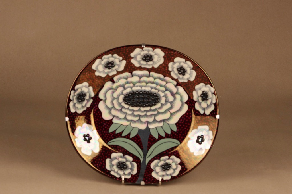 Arabia Fiori wall plate, numbered designer Birger Kaipiainen