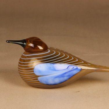 Nuutajärvi Annual bird 2004 Blue Scaup Duck designer Oiva Toikka