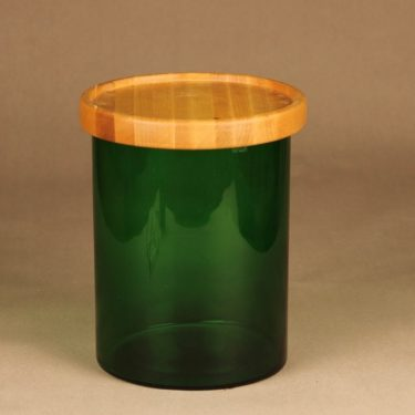 Nuutajärvi Purtilo jar with wooden lid designer Kaj Franck