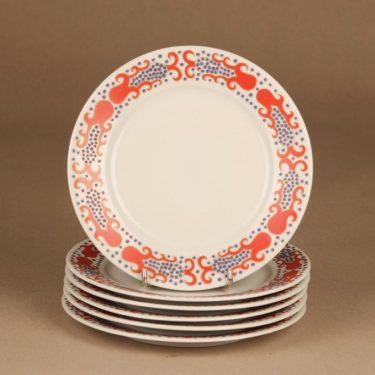 Arabia Esmeralda cake plate red designer Esteri Tomula