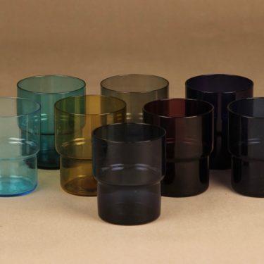 Nuutajärvi 1618, 1718 mehuastiasto kaadin ja lasit 8 kpl, 1 I, 2.5 dl, 1+8 kpl, suunnittelija Saara Hopea, 1 I, 2.5 dl kuva 3