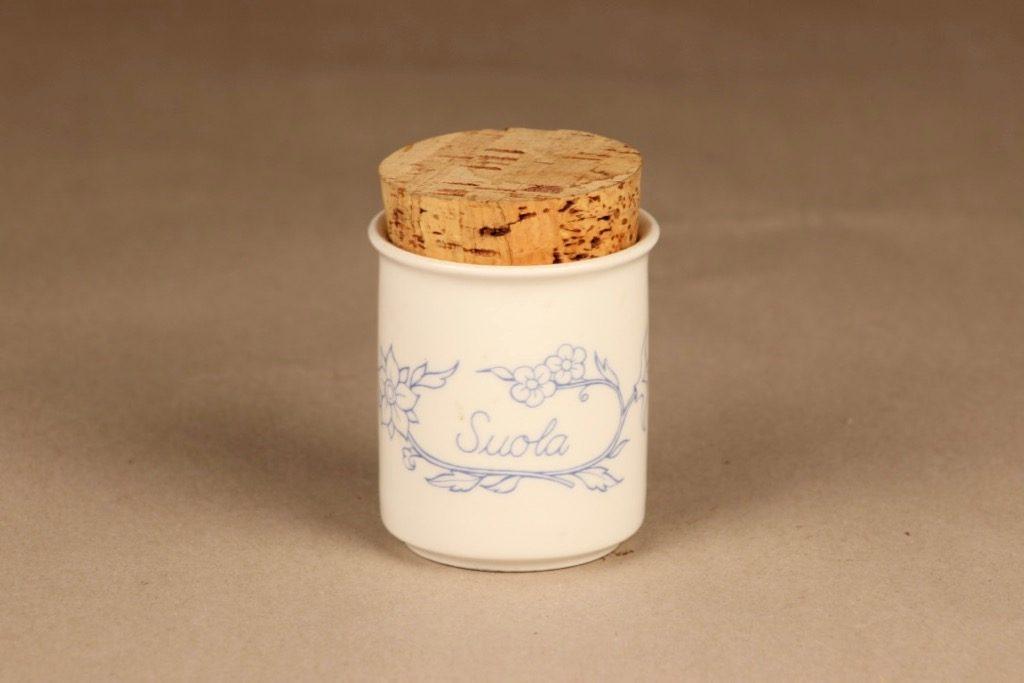 Arabia Sininen keittiö maustepurkki, suola, suunnittelija , suola
