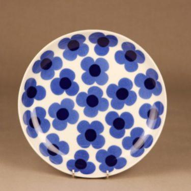 Arabia Aurinko tarjoilulautanen, sininen, suunnittelija Esteri Tomula, serikuva, kukka