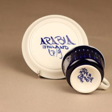 Arabia Valencia kahvikuppi, käsinmaalattu, suunnittelija Ulla Procope, käsinmaalattu, signeerattu kuva 3