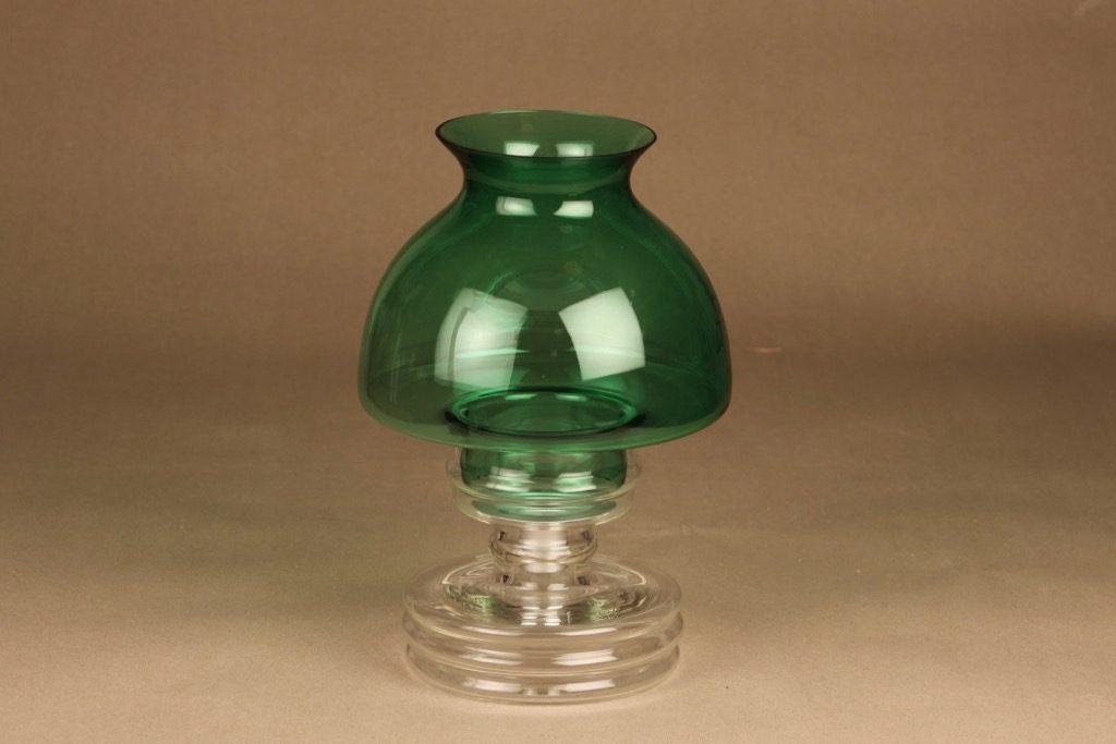 Riihimäen lasi Apollo candle lantern green designer Nanny Still