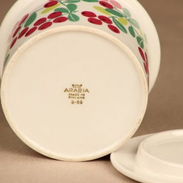 Arabia Pomona cowberry jar with lid designer Raija Uosikkinen 3