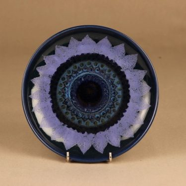 Arabia Kuutamo plate, hand-painted designer Hilkka-Liisa Ahola