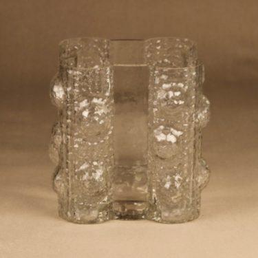 Riihimäen lasi Quadrifolia maljakko, kirkas, suunnittelija Nanny Still, retro, massiivinen kuva 2