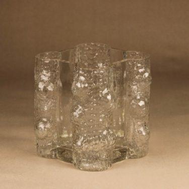 Riihimäen lasi Quadrifolia maljakko, kirkas, suunnittelija Nanny Still, retro, massiivinen kuva 3