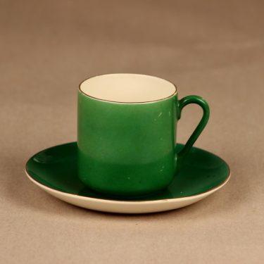 Arabia OC mokkakuppi, vihreä, suunnittelija ,