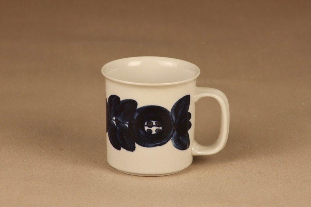 Arabia Anemone muki, käsinmaalattu, suunnittelija Ulla Procope, käsinmaalattu, signeerattu