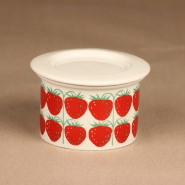 Arabia Pomona strawberry jar with lid designer Raija Uosikkinen