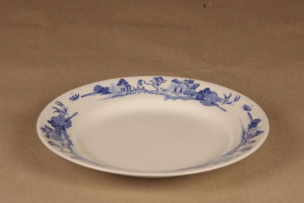 Arabia N5625 lautanen, matala, suunnittelija tuntematon, matala, maisema, itämäinen