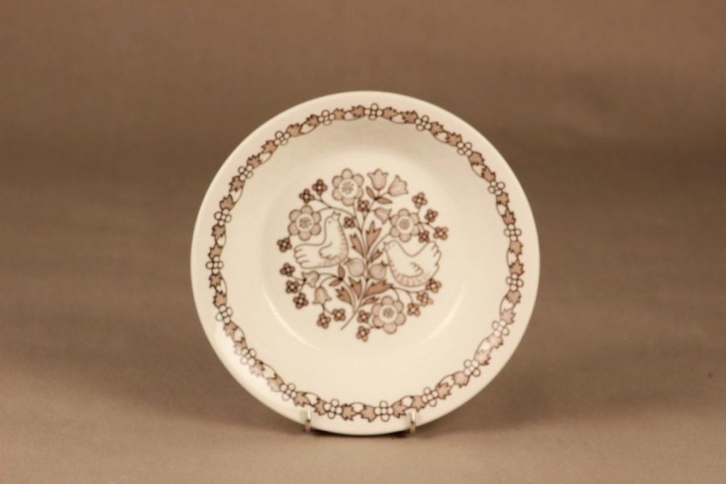 Arabia Sirkku lautanen, syvä, suunnittelija Esteri Tomula, syvä, serikuva