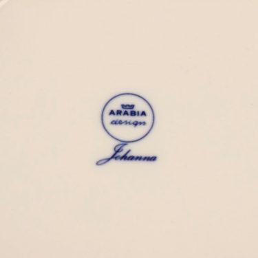 Arabia Johanna tarjoilulautanen, sininen, suunnittelija Raija Uosikkinen, kukka, marja kuva 3