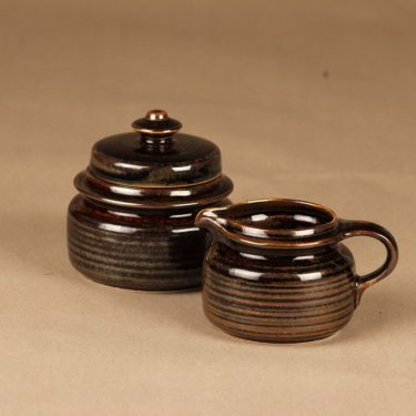 Arabia Mahonki sugar bowl and creamer designer Ulla Procope