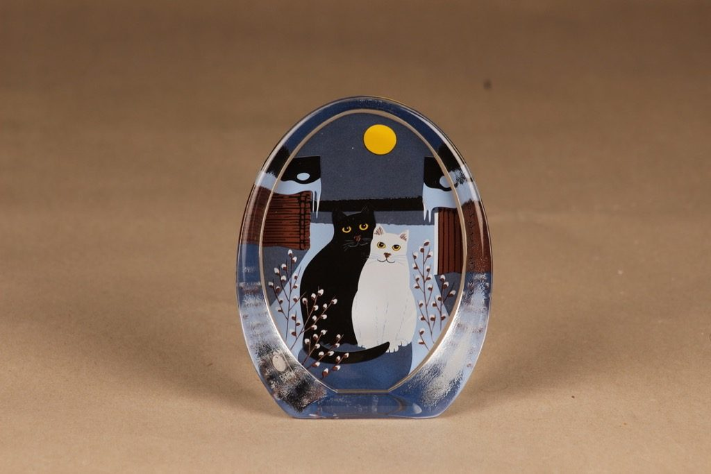 Iittala glass card Two in the moonlight designer Martti Lehto