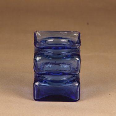 Riihimäen lasi Pala maljakko, sininen, suunnittelija Helena Tynell,