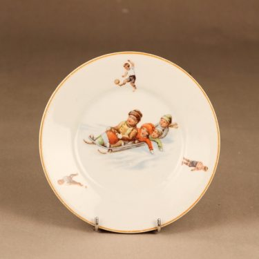 Arabia child plate sport decorative