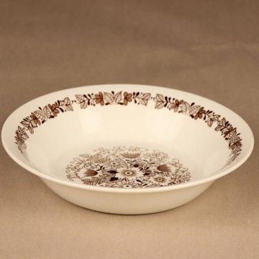Arabia Tuula lautanen, syvä, suunnittelija Esteri Tomula, syvä, kukka, tilaustyö