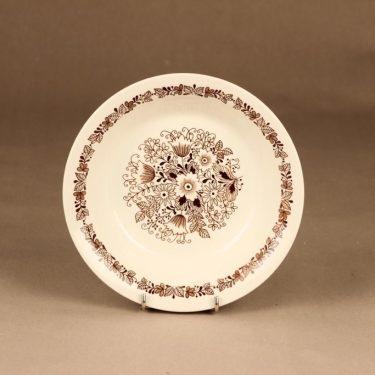 Arabia Tuula lautanen, syvä, suunnittelija Esteri Tomula, syvä, kukka, tilaustyö kuva 2