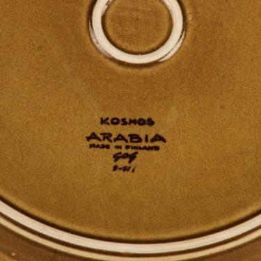 Arabia Kosmos tarjoilulautanen, ruskea, suunnittelija Gunvor Olin-Grönqvist, puhalluskoriste kuva 3