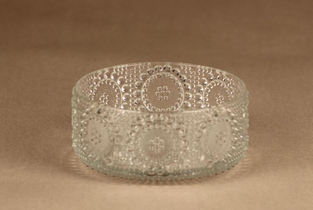 Riihimäen lasi Grapponia annoskulho, kirkas, suunnittelija Nanny Still,