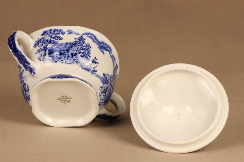 Arabia Maisema sugar bowl and creamer 4