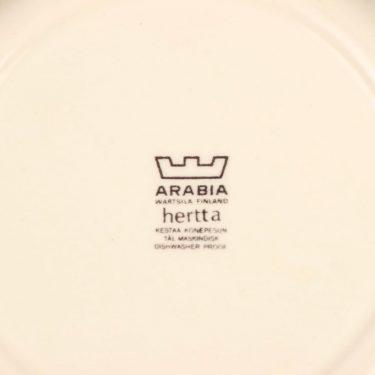 Arabia Hertta lautanen, matala, suunnittelija Raija Uosikkinen, matala, kukka kuva 3