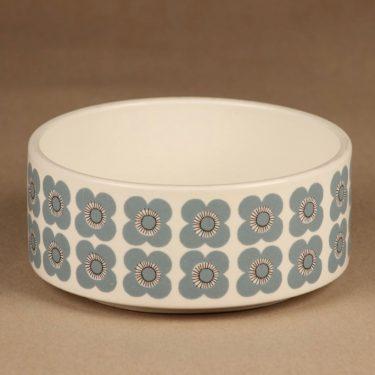 Arabia Veera kulho, siniharmaa, suunnittelija Esteri Tomula, kukka, retro