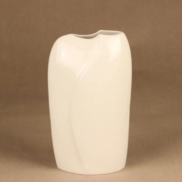 Arabia Lumina vase, white designer Pauli Partanen