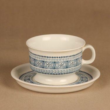 Arabia ND 3 teekuppi ja lautaset(2), siniharmaa, suunnittelija ,  kuva 2