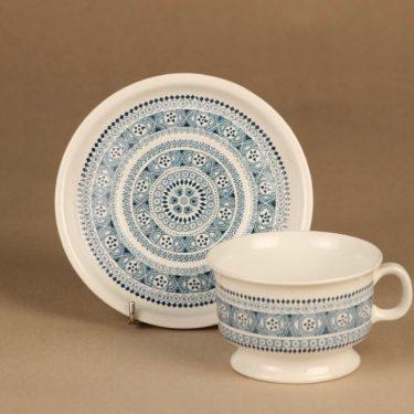 Arabia ND 3 teekuppi ja lautaset(2), siniharmaa, suunnittelija ,  kuva 3