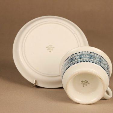 Arabia ND 3 teekuppi ja lautaset(2), siniharmaa, suunnittelija ,  kuva 4