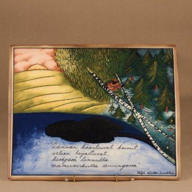 Arabia Rannan koivut seinätaulu, suunnittelija Heljä Liukko-Sundström, kesä, järvi
