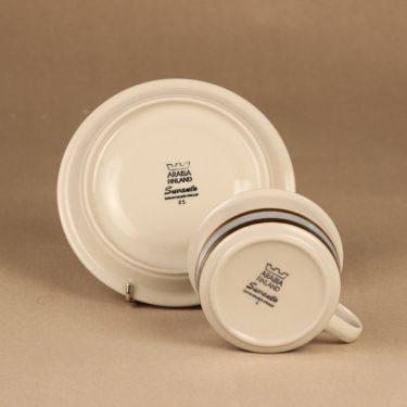 Arabia Suvanto teekuppi, raitakoriste, suunnittelija Ulla Procope, raitakoriste kuva 3