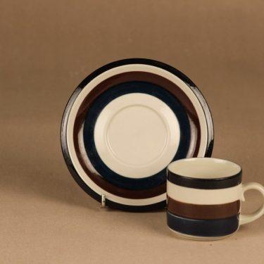 Arabia Kaira kahvikuppi, raitakoriste, suunnittelija Anja Jaatinen-Winquist, raitakoriste kuva 2