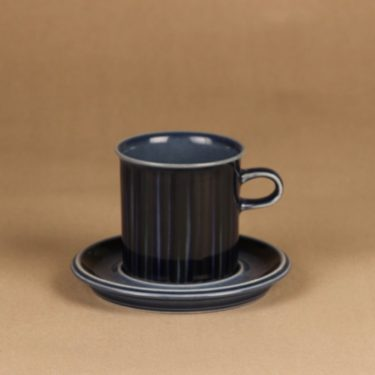 Arabia Kosmos coffee cup blue designer Gunvor Olin-Grönqvist