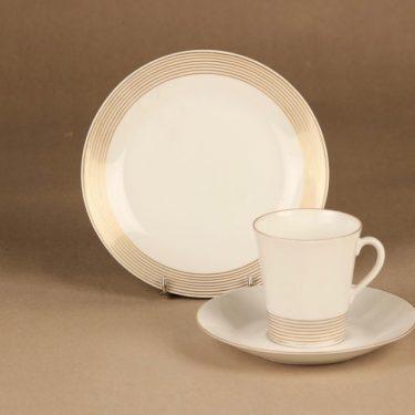 Arabia Jaana coffee cup and plates(2). designer Raija Uosikkinen