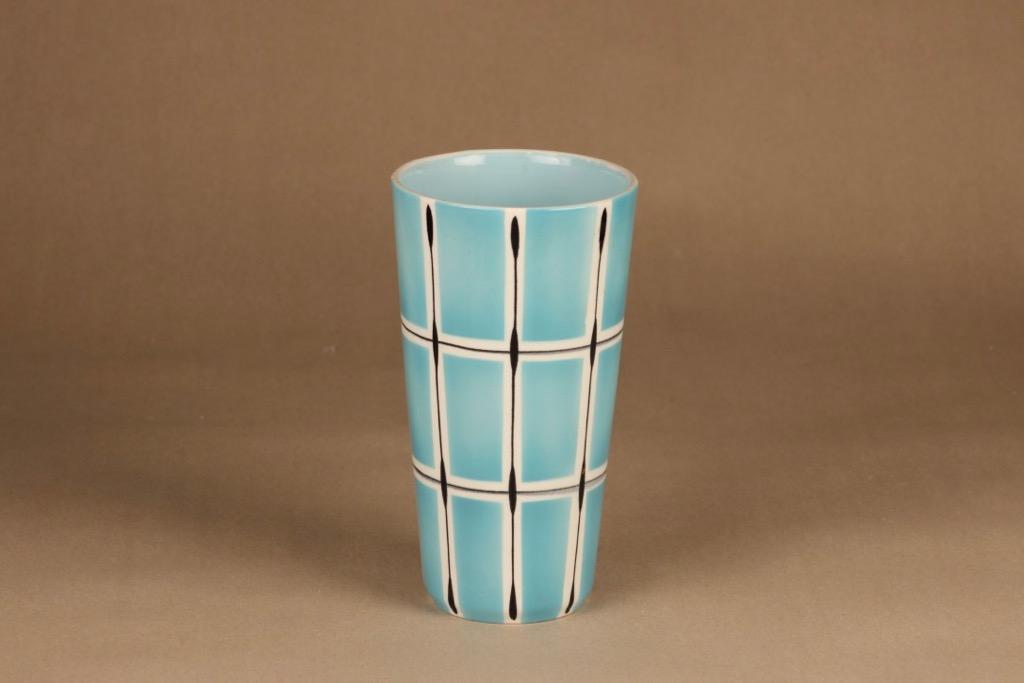 Arabia Ruutu vase, hand-painted designer Olga Osol
