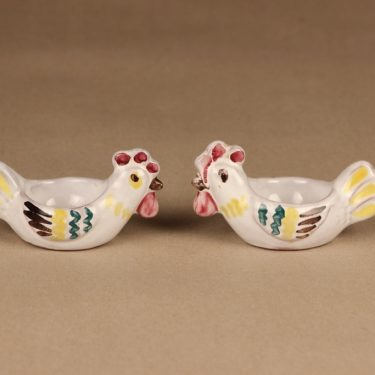 Arabia egg cup hand-painted, 2 pcs