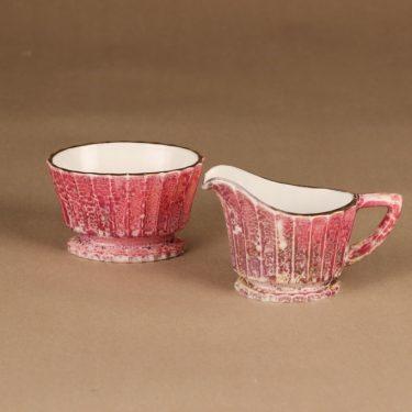 Kauklahden lasi sokerikko ja kermakko, käsinmaalattu, suunnittelija , käsinmaalattu
