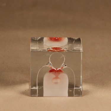 Nuutajärvi annual art glass cube 1985 designer Oiva Toikka 3