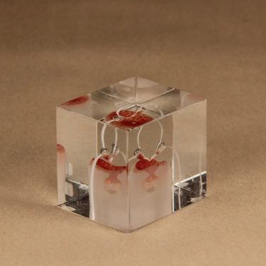Nuutajärvi annual art glass cube 1985 designer Oiva Toikka 4