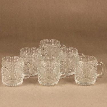 Riihimäen lasi Grapponia kuppi, 10 cl, 6 kpl, suunnittelija Nanny Still, 10 cl