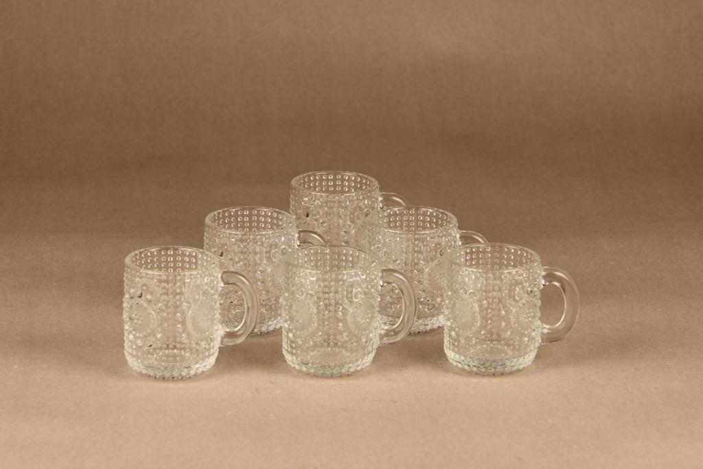 Riihimäen lasi Grapponia cup 10 cl, 6 pcs designer Nanny Still