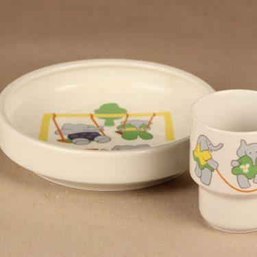 Arabia Elefantti child plate and mug designer Inkeri Leivo 2