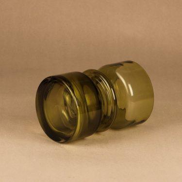 Riihimäen lasi Tiimalasi maljakko, oliivinvihreä, suunnittelija Nanny Still,  kuva 2