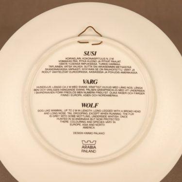 Arabia wall plate Wolf designer Kimmo Pälikkö 2