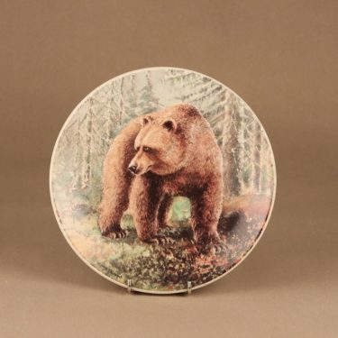 Arabia wall plate Bear designer Kimmo Pälikkö